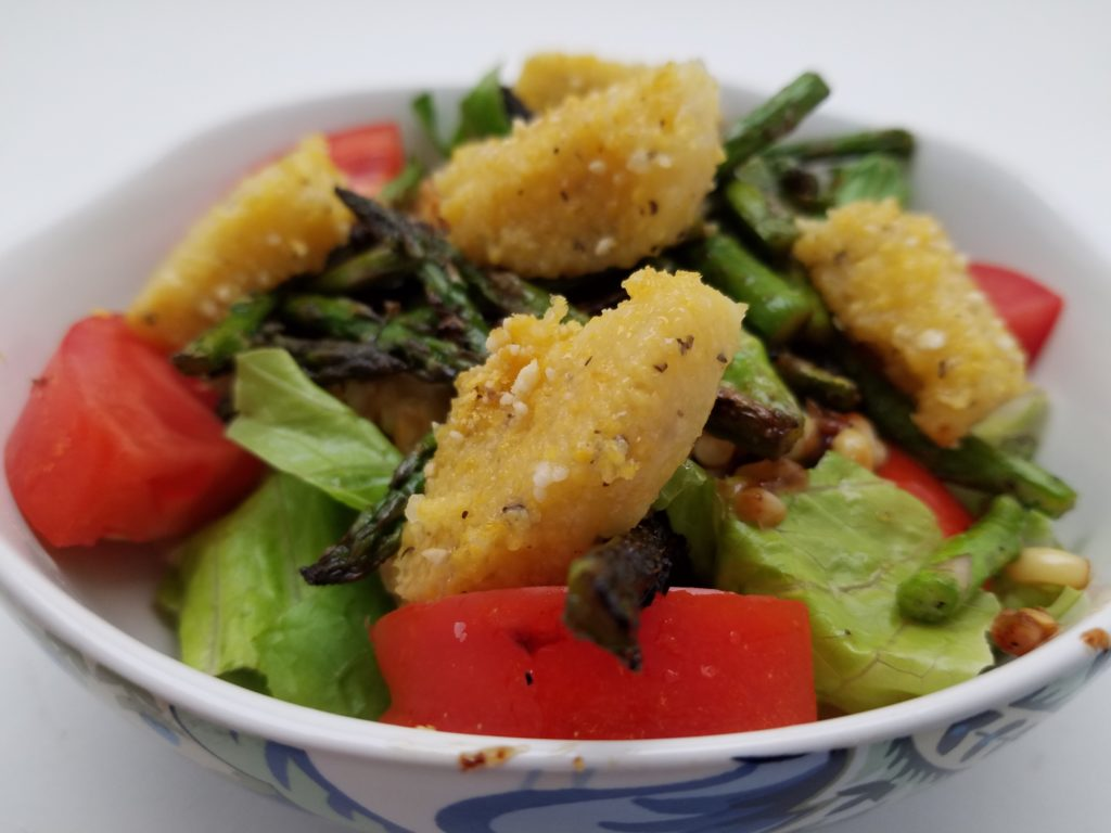 Grilled Corn, Asparagus and Tomato with Fried Polenta ...